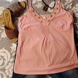 Maurices Pink Embellished Camisole Top Sz M